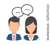 female and male avatar chat set.... | Shutterstock .eps vector #625114112