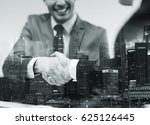 business  cooperation ... | Shutterstock . vector #625126445