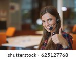 young female in call center team | Shutterstock . vector #625127768
