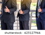 the young asian business team... | Shutterstock . vector #625127966