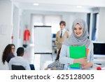 arabic business woman working...   Shutterstock . vector #625128005