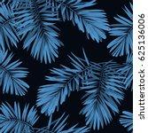 indigo seamless pattern with... | Shutterstock . vector #625136006