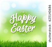 happy easter card with bokeh  | Shutterstock . vector #625140686