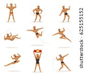 freestyle wrestling fighter in... | Shutterstock .eps vector #625155152