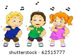 Illustration Featuring Dancing Kids - stock vector