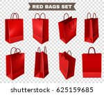 set of red shopping bags from... | Shutterstock .eps vector #625159685