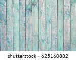 Blue Old Wooden Fence. Wood...