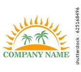 summer beach logo   Shutterstock .eps vector #625168496