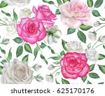 seamless floral pattern with... | Shutterstock . vector #625170176