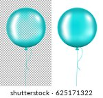 mint balloons gradient mesh ... | Shutterstock .eps vector #625171322