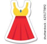 woman dress vector icon   Shutterstock .eps vector #625177892