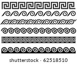 meander and wave. ancient greek ... | Shutterstock .eps vector #62518510