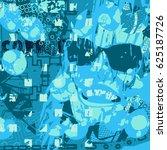 blue artistic neo grunge style... | Shutterstock .eps vector #625187726
