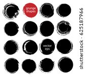 hand drawn ink grunge circles... | Shutterstock .eps vector #625187966