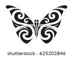 butterfly polynesian ornamental ... | Shutterstock .eps vector #625202846