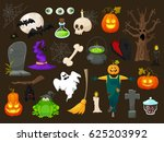 halloween fashion flat icons... | Shutterstock . vector #625203992