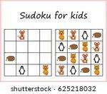 sudoku for kids. game for... | Shutterstock .eps vector #625218032