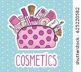 vector illustration cosmetic... | Shutterstock .eps vector #625220582