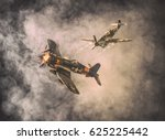 Old Air Combat In The Clouds  ...