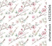 hand drawn apple tree branches... | Shutterstock . vector #625232606