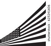 black and white american flag. | Shutterstock .eps vector #625241606