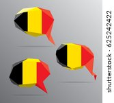 polygon speech bubble flag  ... | Shutterstock .eps vector #625242422