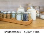 spice in a bottle on the wooden ... | Shutterstock . vector #625244486