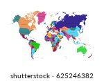 world map countries. | Shutterstock .eps vector #625246382