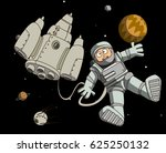 astronaut in outer space... | Shutterstock . vector #625250132