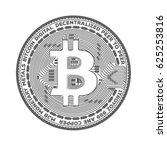 bitcoin crypto coin symbol... | Shutterstock .eps vector #625253816