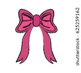 pink ribbon bow icon image | Shutterstock .eps vector #625259162