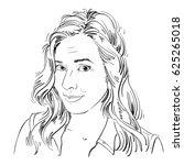 monochrome hand drawn image ... | Shutterstock . vector #625265018