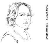hand drawn portrait of white...   Shutterstock . vector #625265042