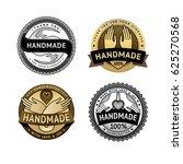 handmade badges. retro labels... | Shutterstock .eps vector #625270568