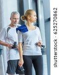 sportswoman and senior... | Shutterstock . vector #625270862