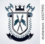 heraldic design  vintage emblem. | Shutterstock . vector #625279592