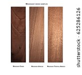 Small photo of Cuban Mahogany, African Mahogany and Mahogany-Tropical America wood samples