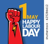 happy labour day vector label... | Shutterstock .eps vector #625286612