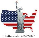 illustration of statue of... | Shutterstock .eps vector #625292072