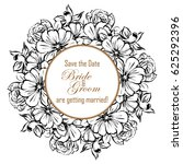 vintage delicate invitation... | Shutterstock . vector #625292396