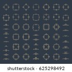 circle and square wicker... | Shutterstock .eps vector #625298492