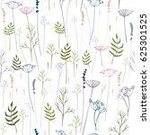 seamless hand drawn vector... | Shutterstock .eps vector #625301525