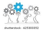teamwork concept. diverse... | Shutterstock .eps vector #625303352