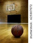 ball on basketball court for... | Shutterstock . vector #625307072