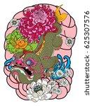 hand drawn monster of buddhism  ... | Shutterstock .eps vector #625307576