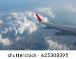 Plane Wing With City View From...