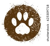 vector grunge paw. isolated...   Shutterstock .eps vector #625309718