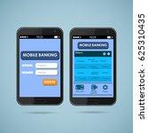 mobile banking | Shutterstock .eps vector #625310435
