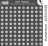 art tools icons for web and... | Shutterstock .eps vector #625313435