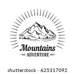 vector mountain with texture.... | Shutterstock .eps vector #625317092